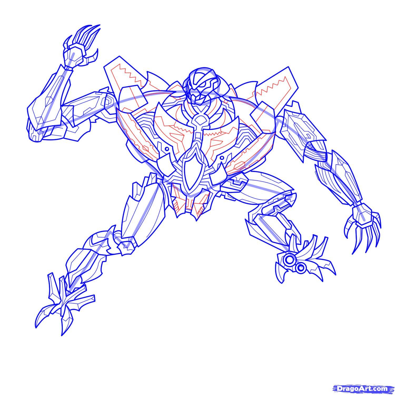 Рисуем трансформера Старскрима - шаг 22
