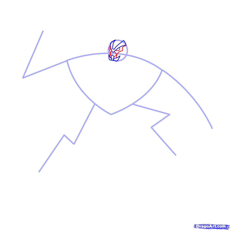 Рисуем трансформера Старскрима - шаг 3