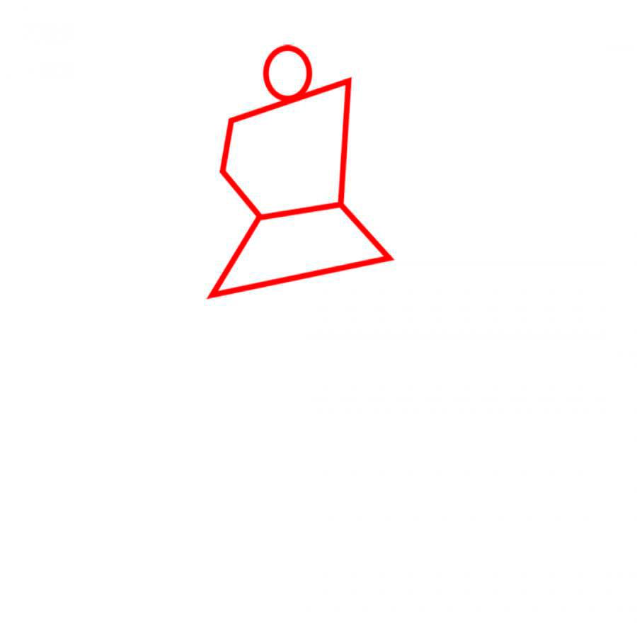 Рисуем трансформера Бамблби - шаг 1