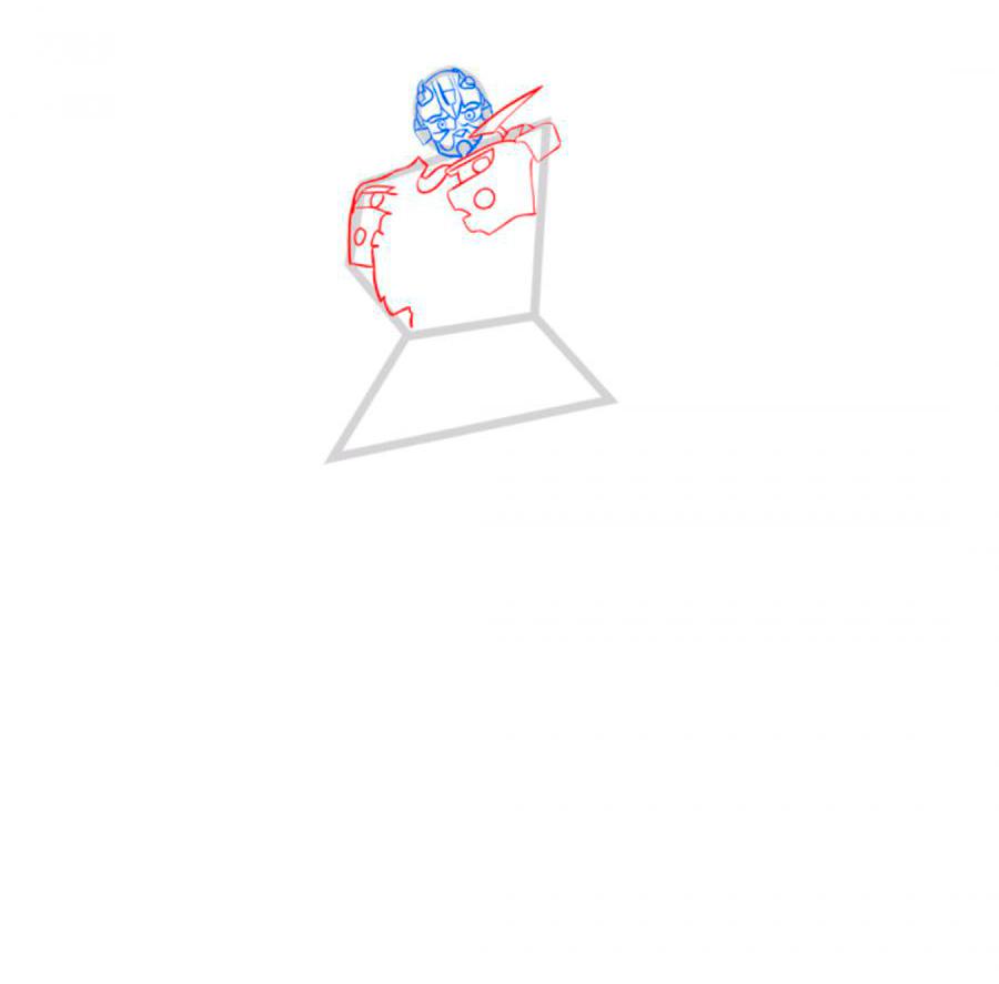 Рисуем трансформера Бамблби - шаг 3