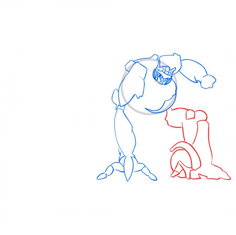 Рисуем трансформера Джаза простым - шаг 5