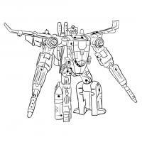 Как нарисовать трансформера Джетфайера карандашом поэтапно