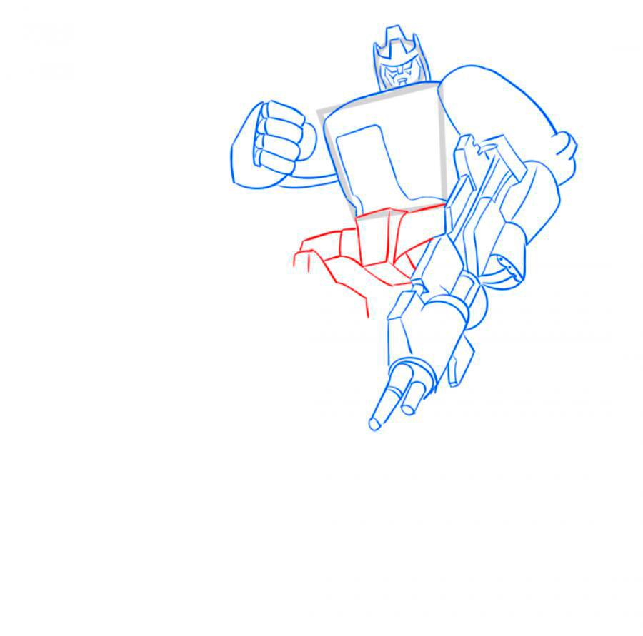 Рисуем трансформера Гальватрона