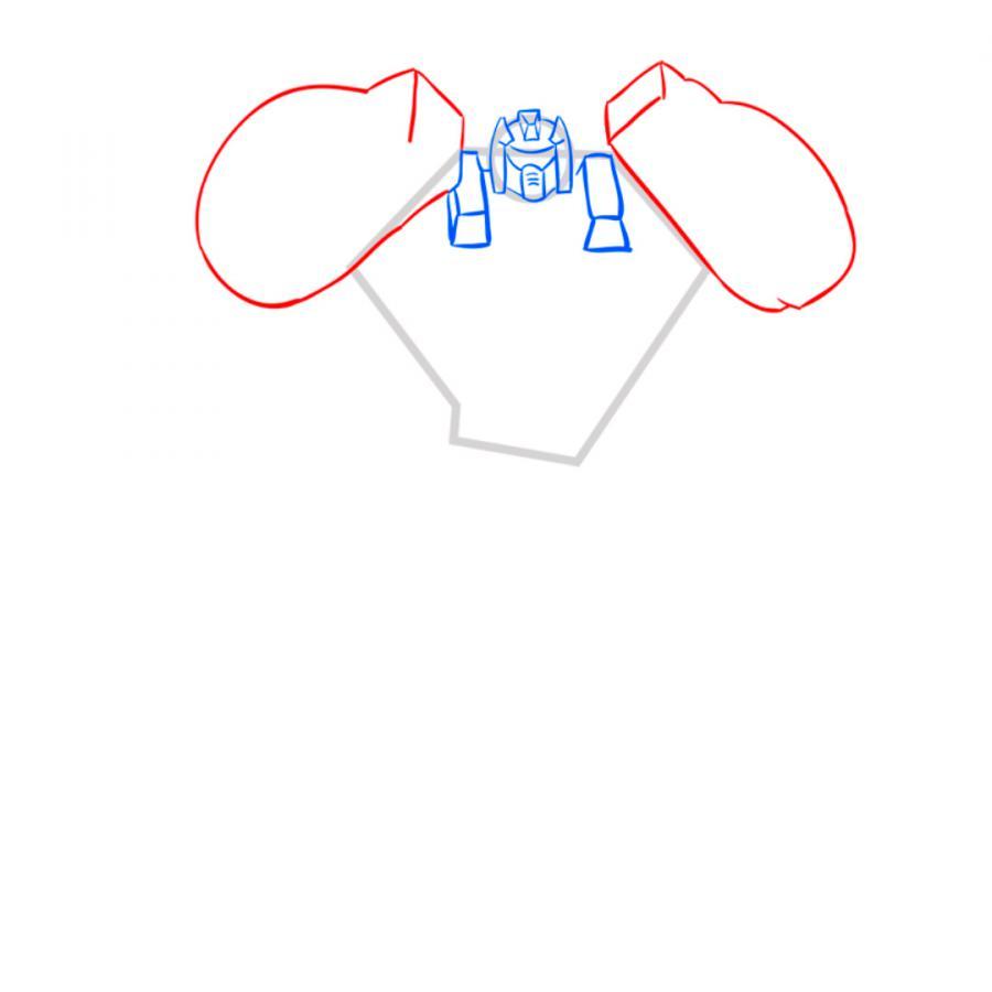 Как нарисовать трансформера Гримлока карандашом поэтапно