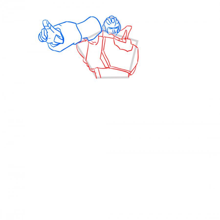 Рисуем трансформера Хот Рода (Hotrod)