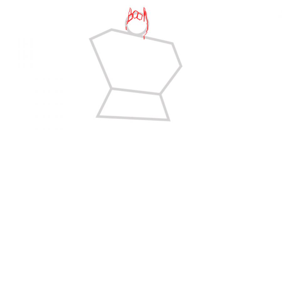 Рисуем трансформера Оптимуса Прайма - шаг 2