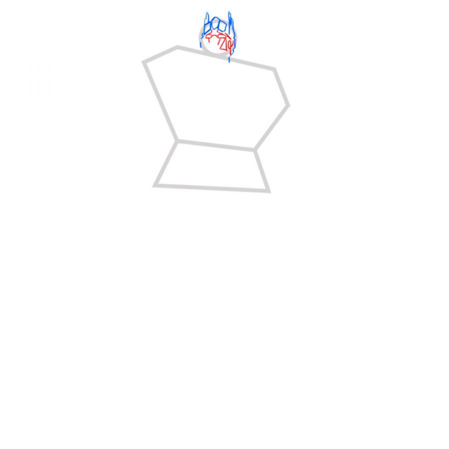 Рисуем трансформера Оптимуса Прайма - шаг 3