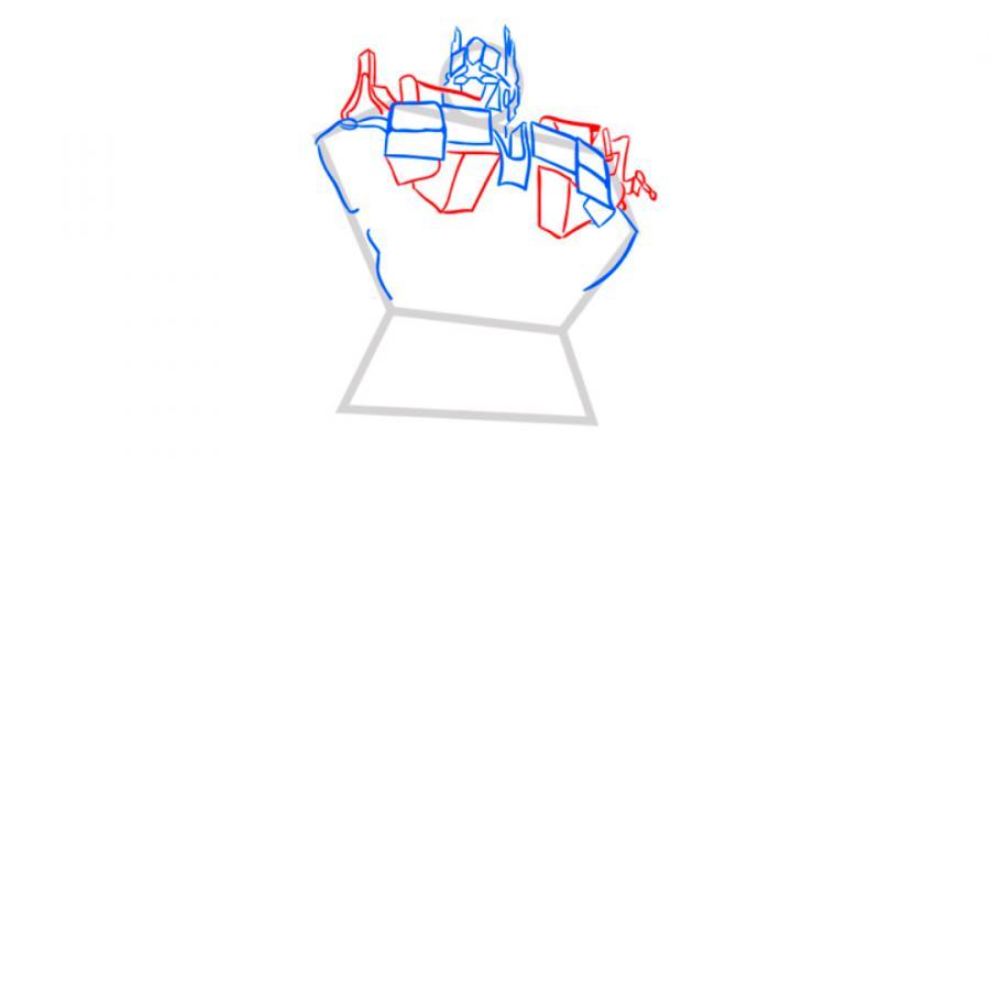 Рисуем трансформера Оптимуса Прайма - шаг 4