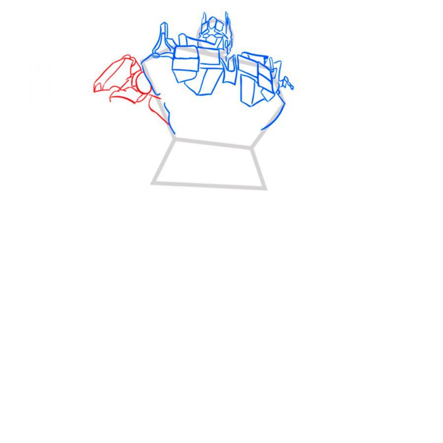 Рисуем трансформера Оптимуса Прайма - шаг 5