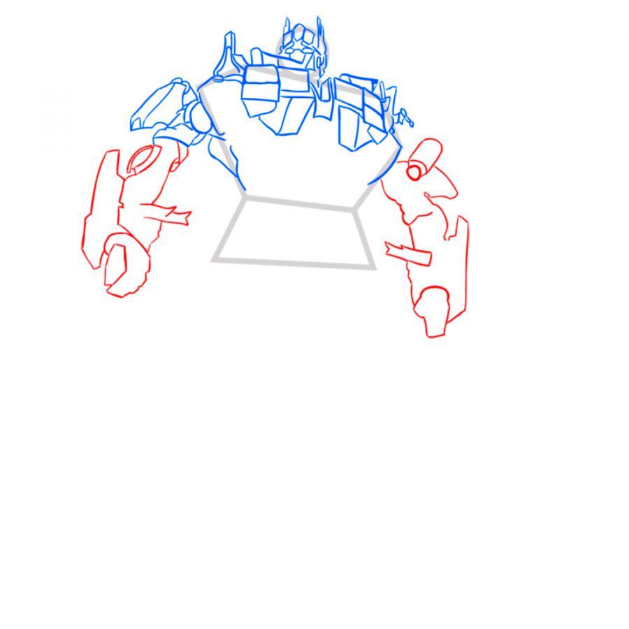 Рисуем трансформера Оптимуса Прайма - шаг 6