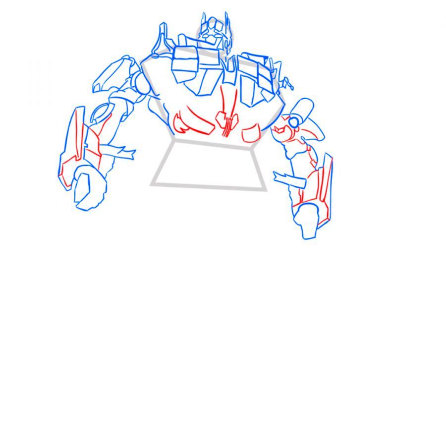 Рисуем трансформера Оптимуса Прайма - шаг 7