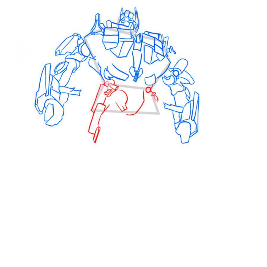 Рисуем трансформера Оптимуса Прайма - шаг 8