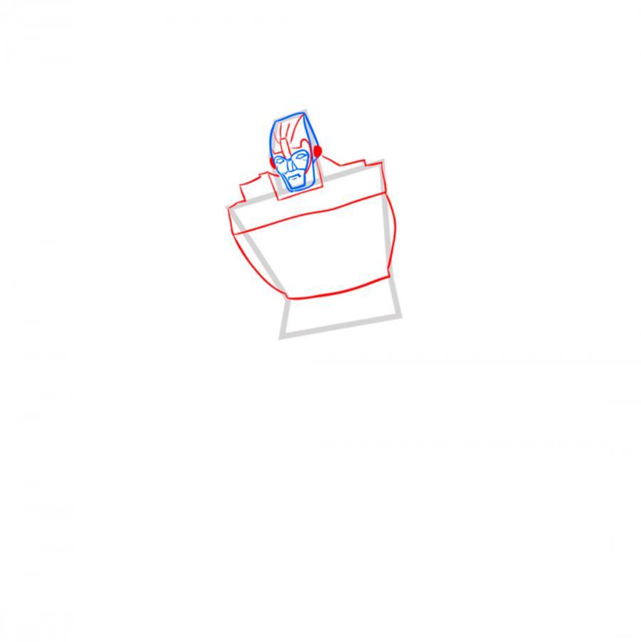 Рисуем трансформера Родимуса Прайма