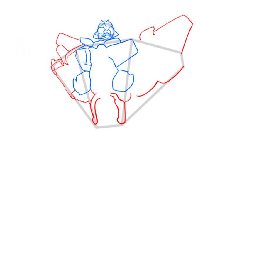 Рисуем трансформера Старскрима в полный рост - шаг 5