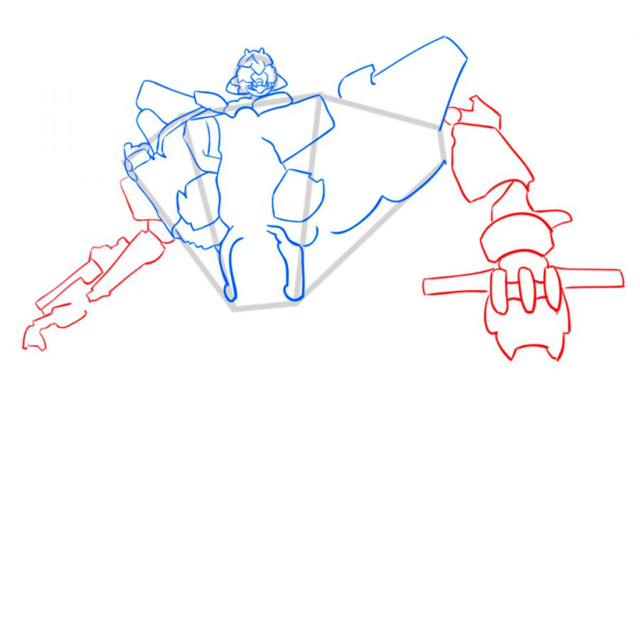 Рисуем трансформера Старскрима