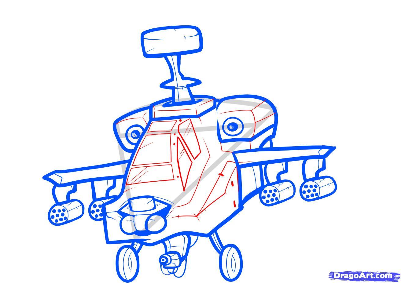 Рисуем вертолет AH-64 Apache - шаг 6