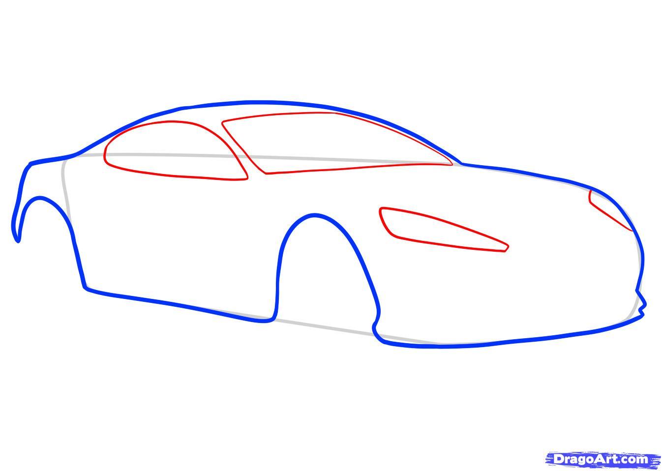 Рисуем машину Aston Martin карандашами - фото 3