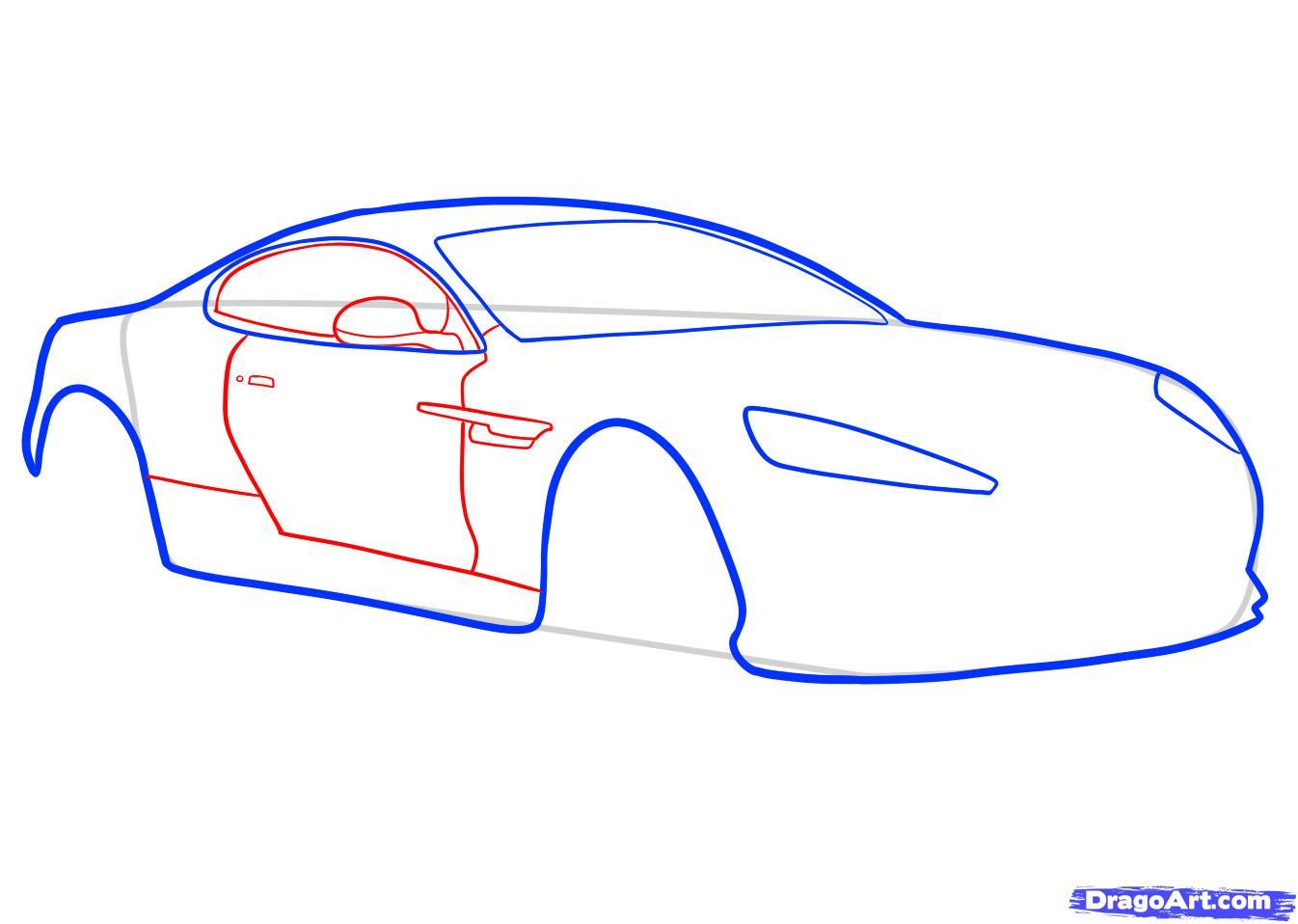 Рисуем машину Aston Martin карандашами - фото 4