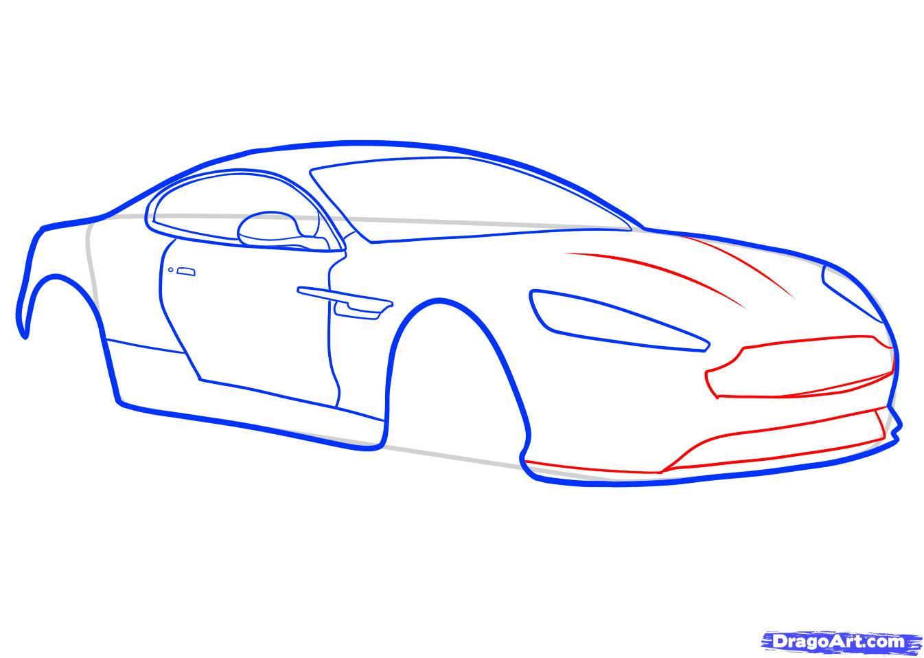 Рисуем машину Aston Martin карандашами - фото 5