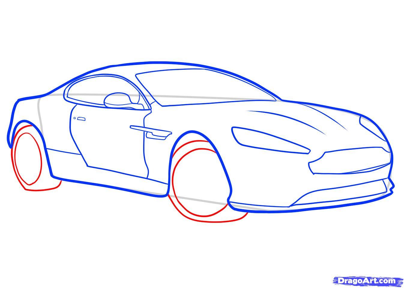 Рисуем машину Aston Martin карандашами - фото 6