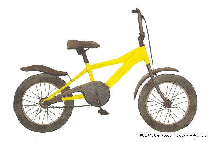 Учимся рисовать Велосипед - шаг 4