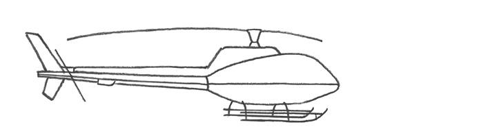 Рисуем вертолет за 4 шага - шаг 3