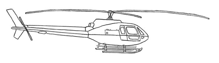 Рисуем вертолет за 4 шага - шаг 4