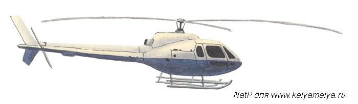 Рисуем вертолет за 4 шага - шаг 5