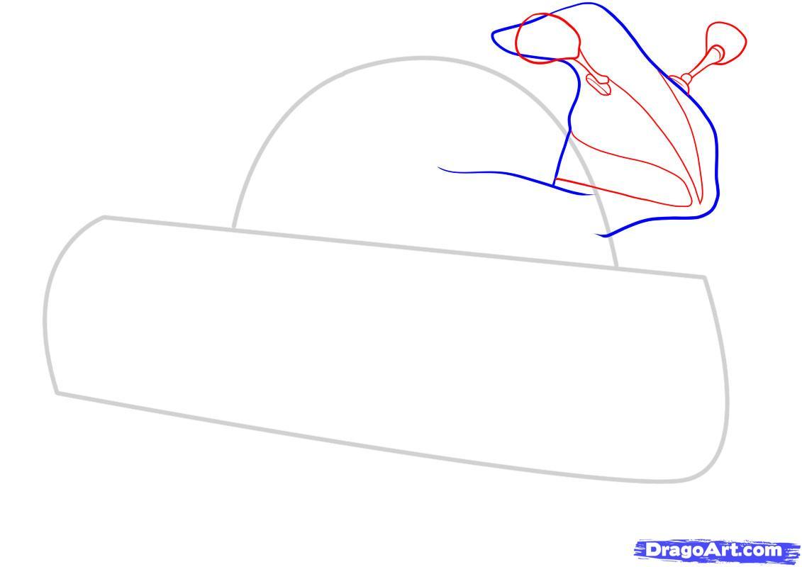 Рисуем мотоцикл - шаг 3