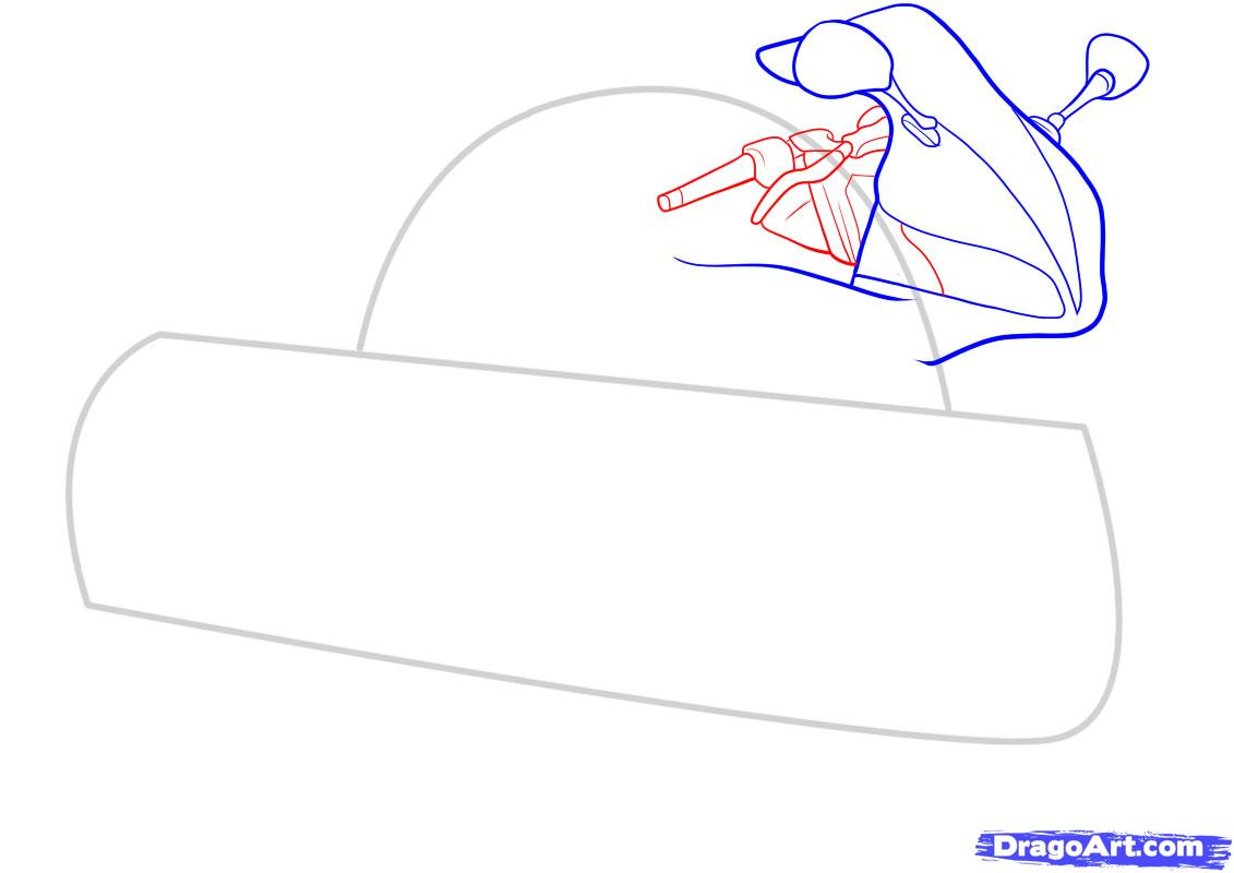 Рисуем мотоцикл - фото 4