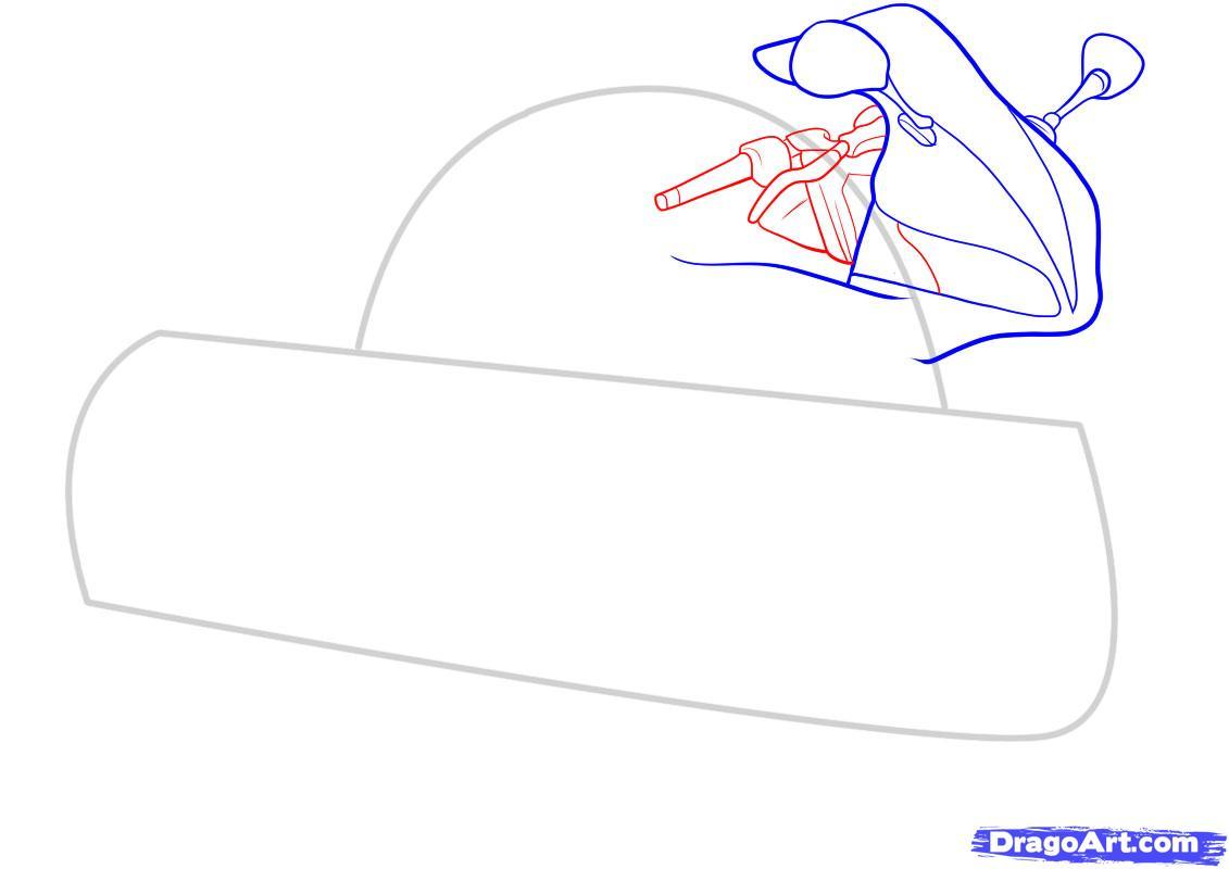 Рисуем мотоцикл - шаг 4