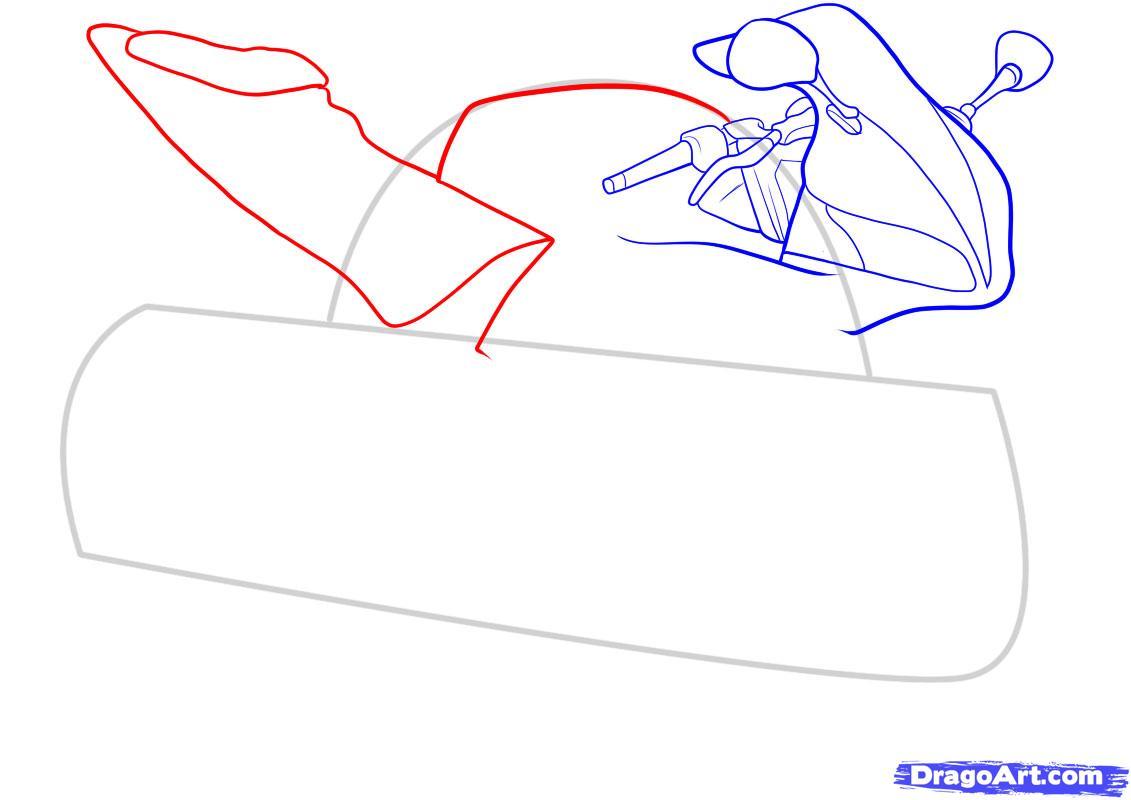 Рисуем мотоцикл - шаг 5