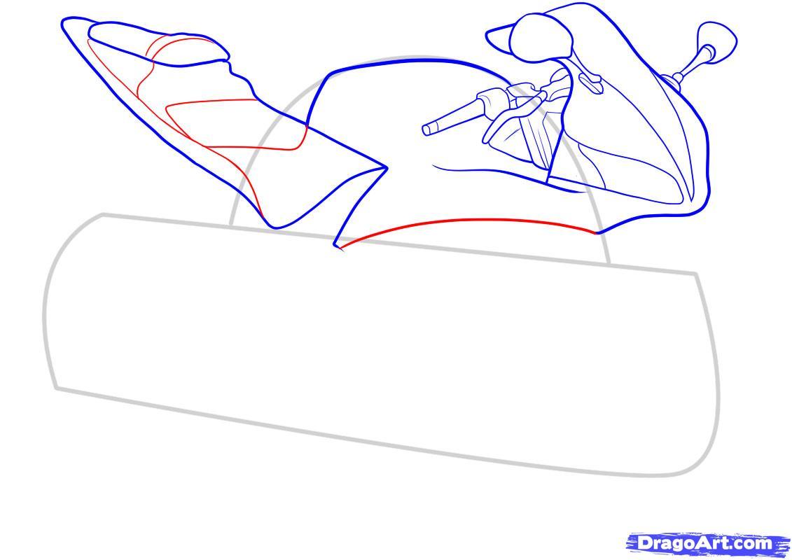 Рисуем мотоцикл - фото 6
