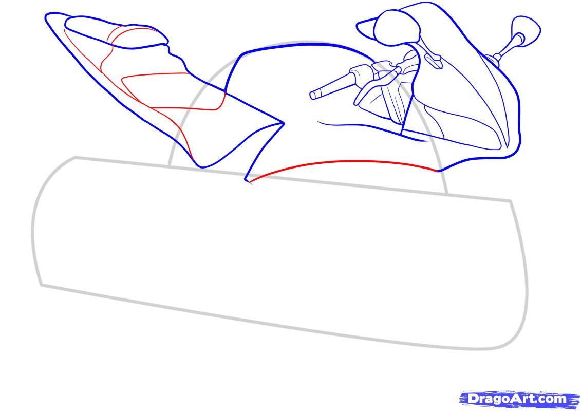 Рисуем мотоцикл - шаг 6