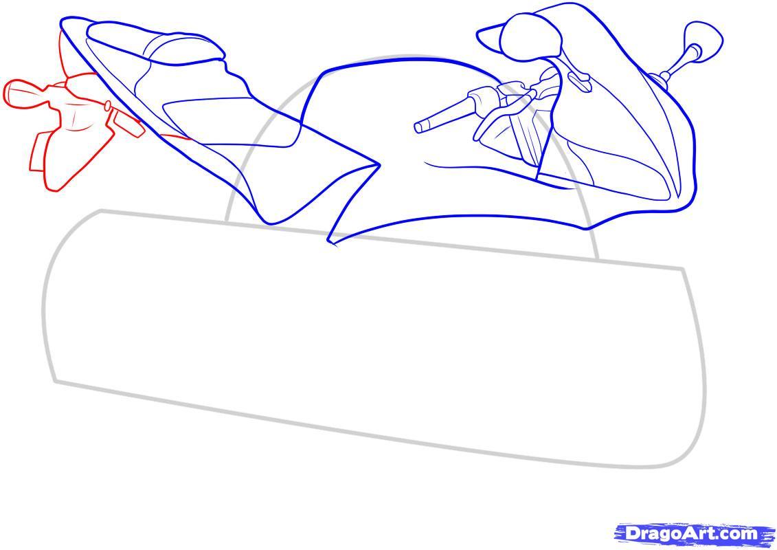 Рисуем мотоцикл - фото 7