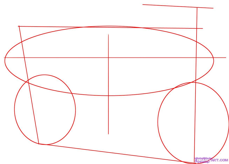 Как правильно нарисовать мотоцикл (Suzuki Katana 600) поэтапно