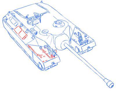 Рисуем американский танк Т-95 простым