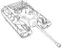Фото американский танк Т-95 простым карандашом