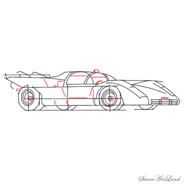 Рисуем автомобиль Феррари 512S - шаг 7