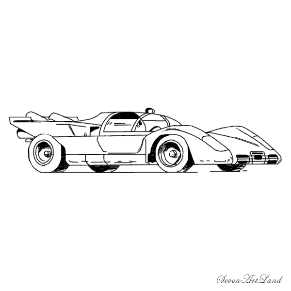 Рисуем автомобиль Феррари 512S - шаг 9