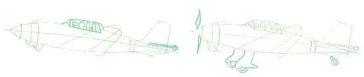 Как нарисовать Бомбардировщик Юнкерс JU-87B карандашом