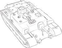 Как нарисовать британскую ПТ-САУ АТ-8 простым карандашом поэтапно