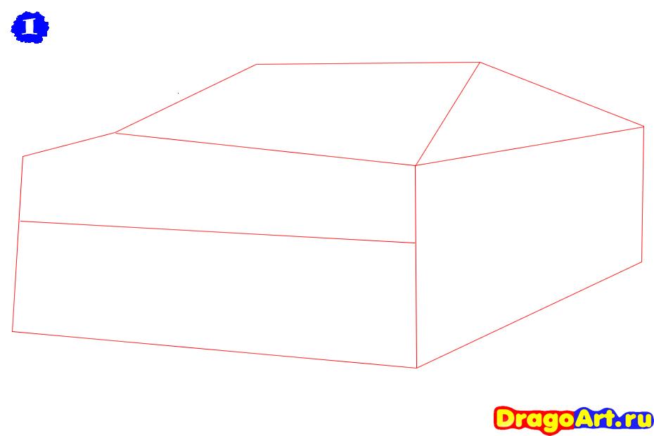 Рисуем машину бугатти - фото 1
