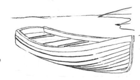 Как нарисовать деревянную лодку карандашом поэтапно