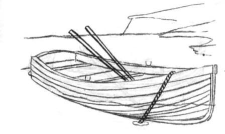 Рисуем деревянную лодку