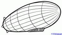 Как нарисовать Дирижабль карандашом поэтапно