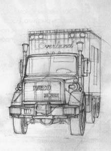 Рисуем грузовик Iveco