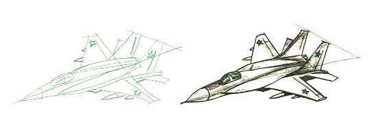 Рисуем истребитель МИГ-29