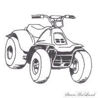 Квадроцикл карандашом