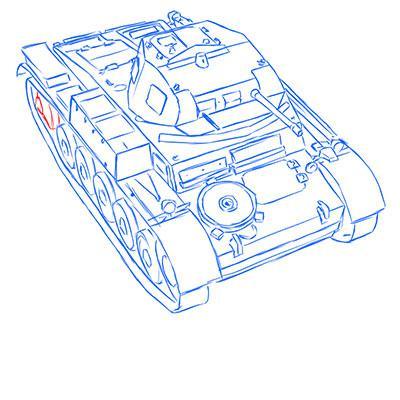 Рисуем легкий немецкий танк Pz.Kpfw. II простым